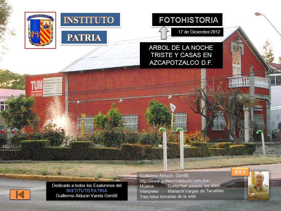 ARBOL DE LA NOCHE TRISTE Y CASAS EN AZCAPOTZALCO D.F.