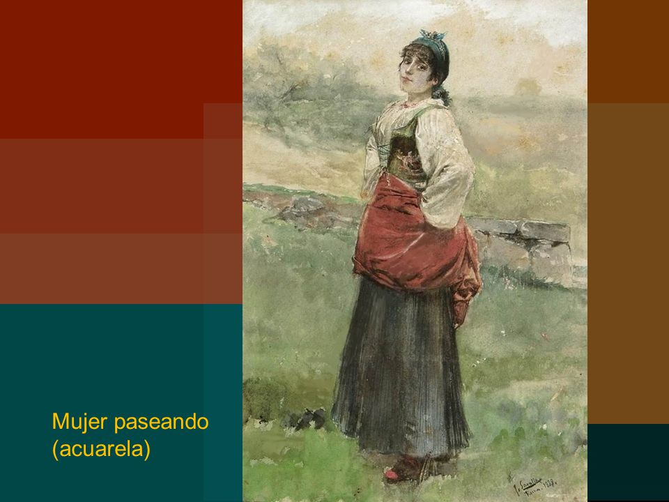 Mujer paseando (acuarela)