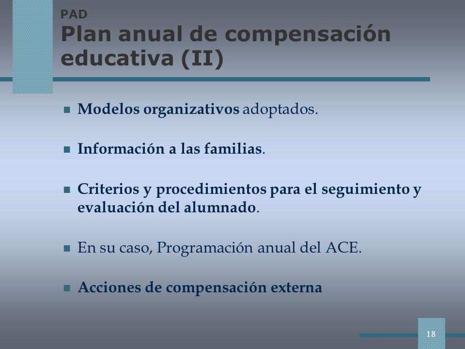 PAD Plan anual de compensación educativa (II)