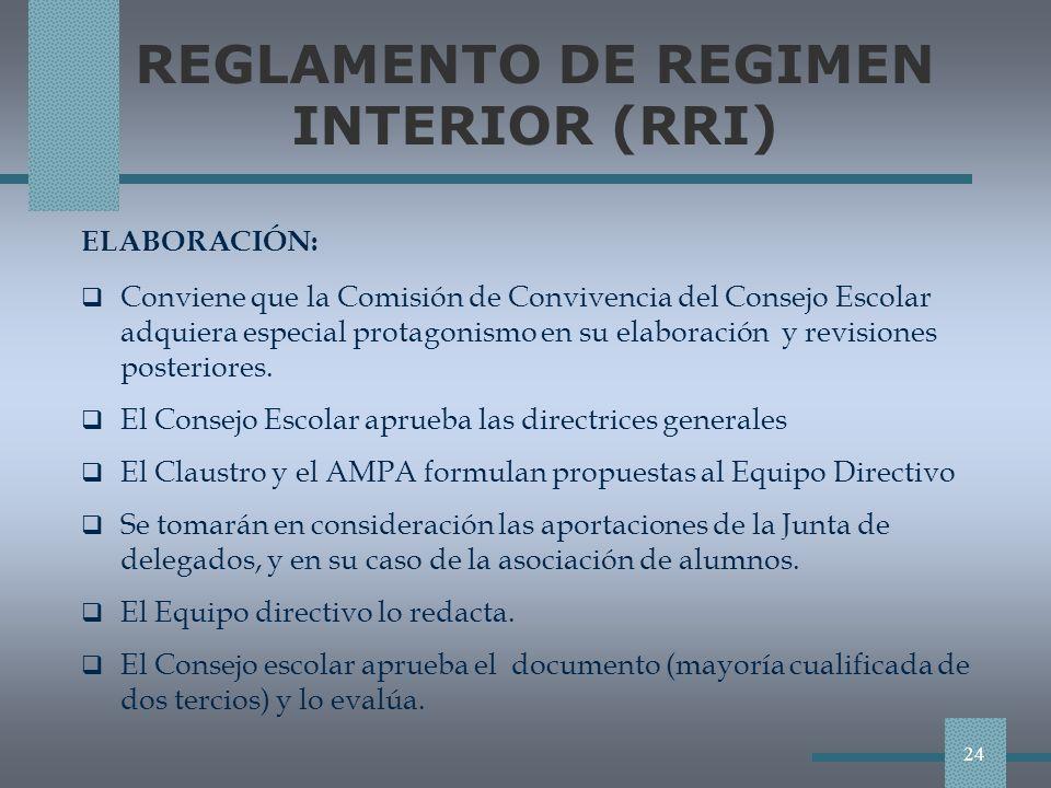 REGLAMENTO DE REGIMEN INTERIOR (RRI)