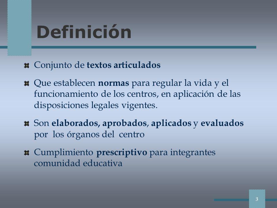 Definición Conjunto de textos articulados