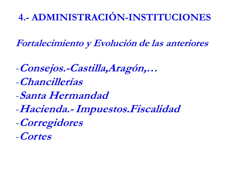 4.- ADMINISTRACIÓN-INSTITUCIONES