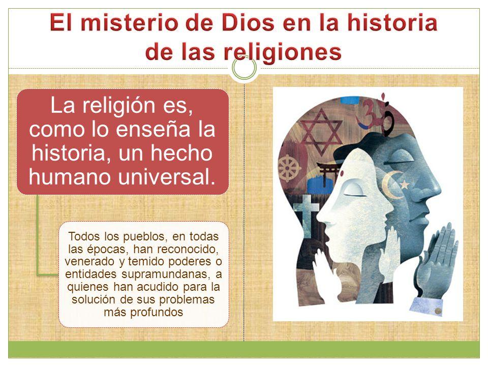 El misterio de Dios en la historia de las religiones