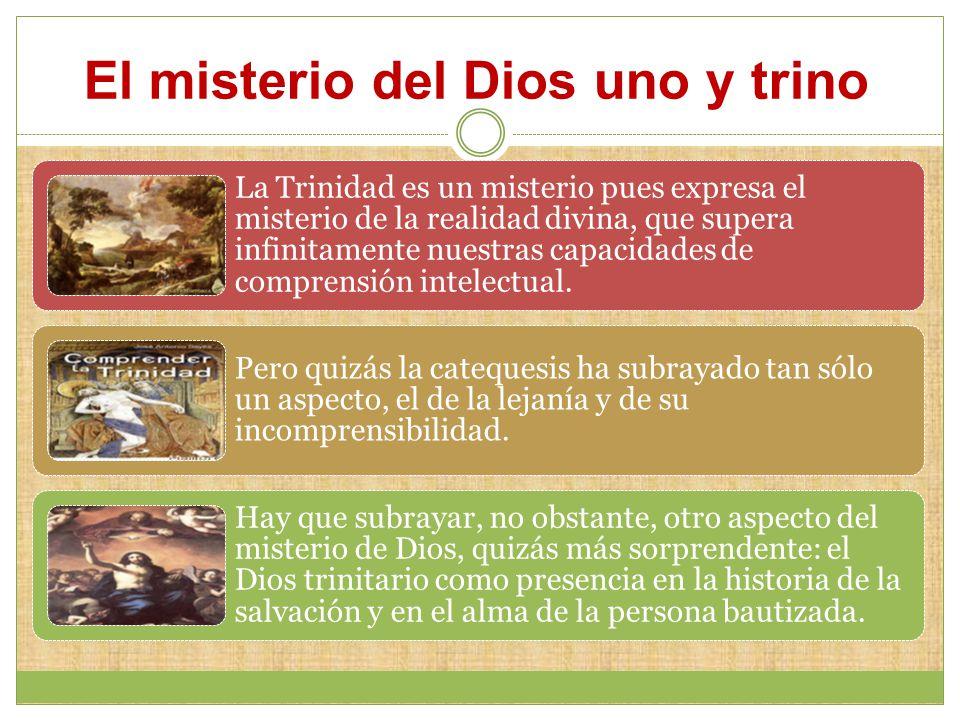 El misterio del Dios uno y trino