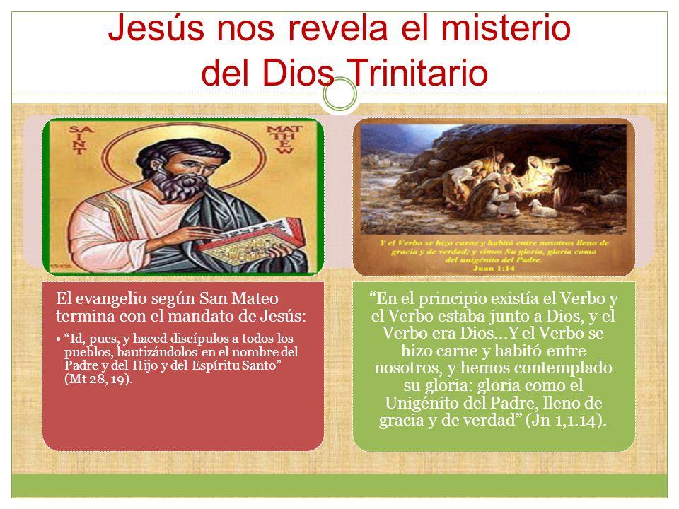 Jesús nos revela el misterio del Dios Trinitario