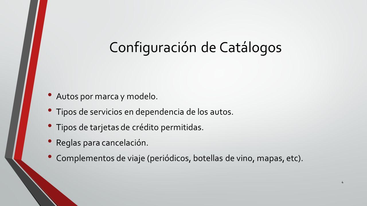 Configuración de Catálogos