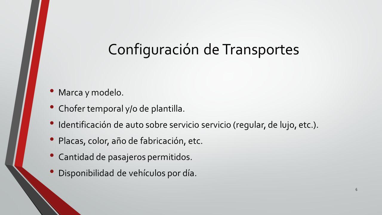 Configuración de Transportes