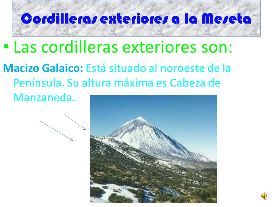 Cordilleras exteriores a la Meseta