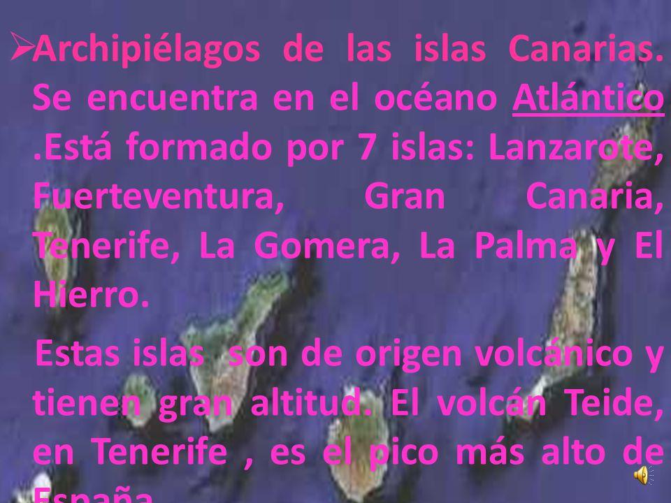Archipiélagos de las islas Canarias