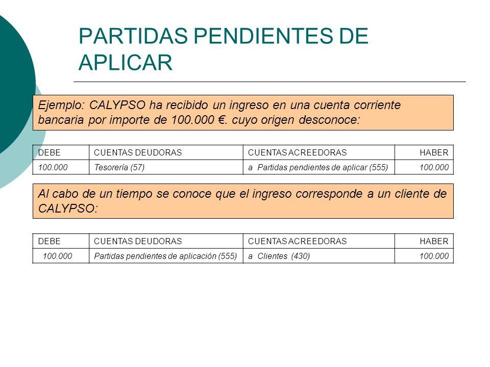PARTIDAS PENDIENTES DE APLICAR