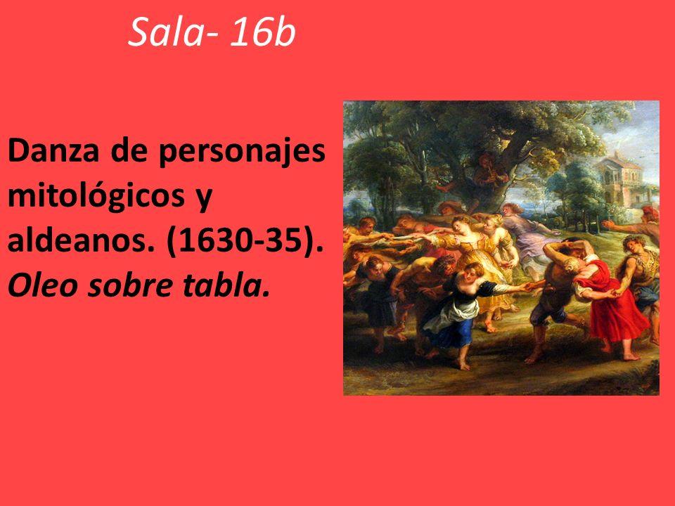 Sala- 16b Danza de personajes mitológicos y aldeanos. (1630-35). Oleo sobre tabla.