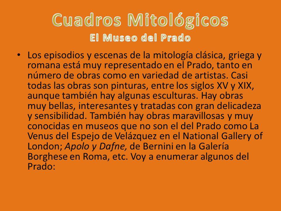 Cuadros Mitológicos El Museo del Prado