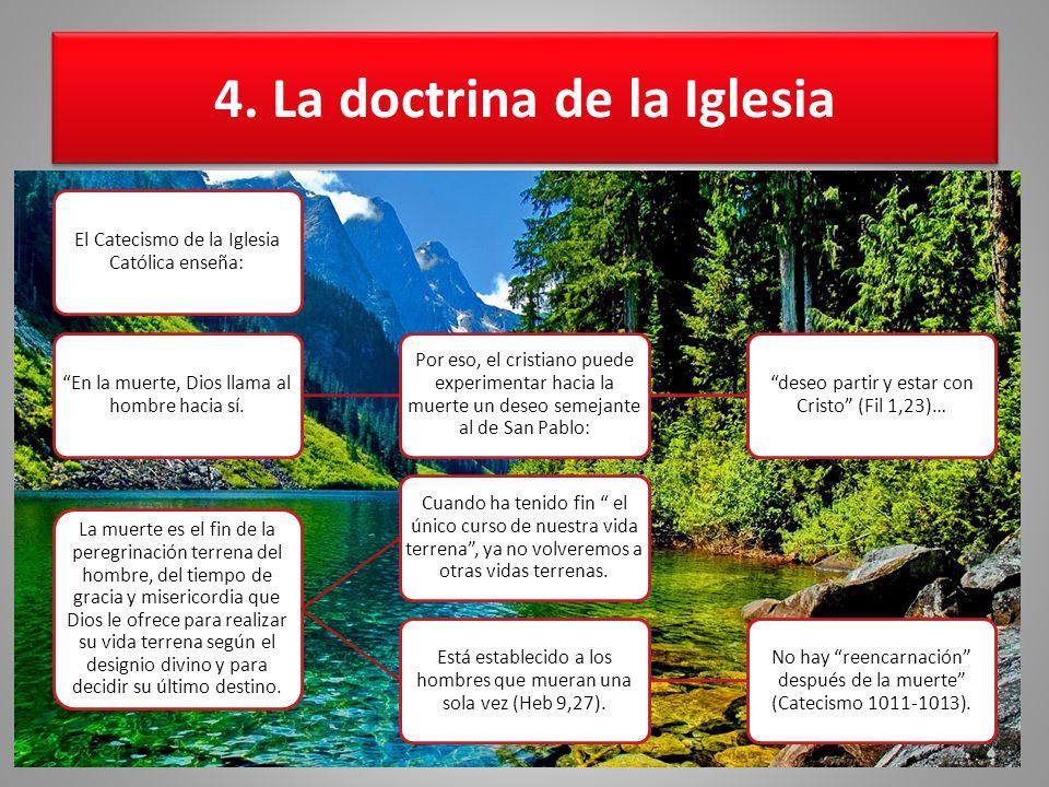 4. La doctrina de la Iglesia