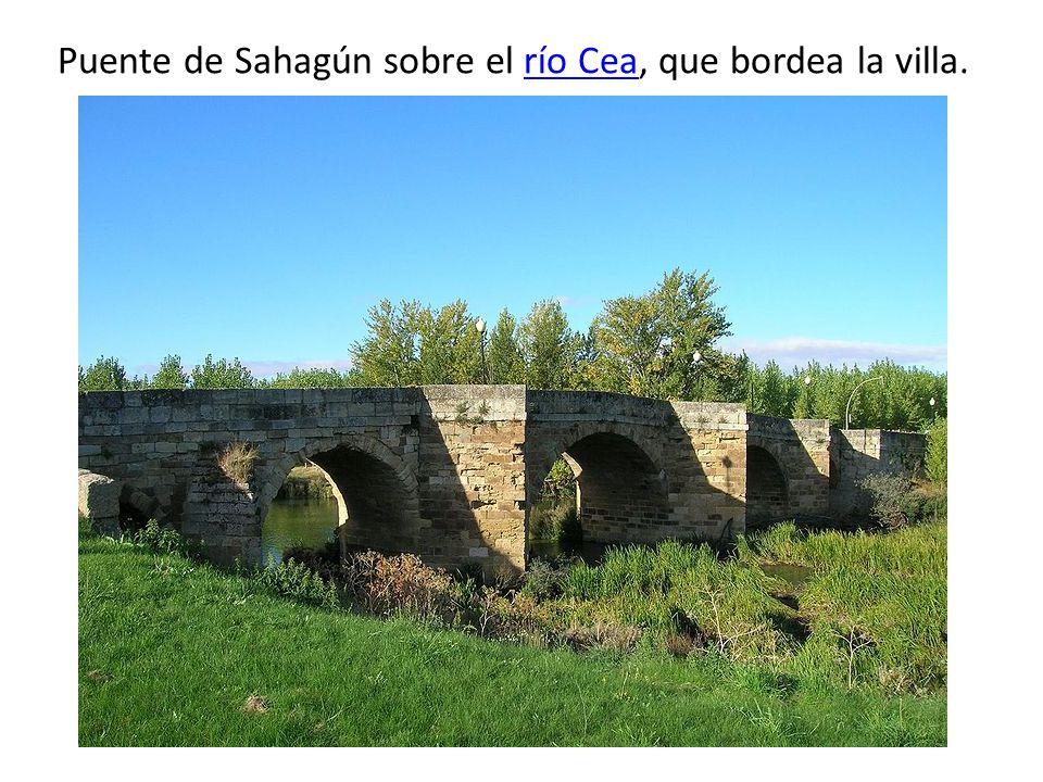 Puente de Sahagún sobre el río Cea, que bordea la villa.