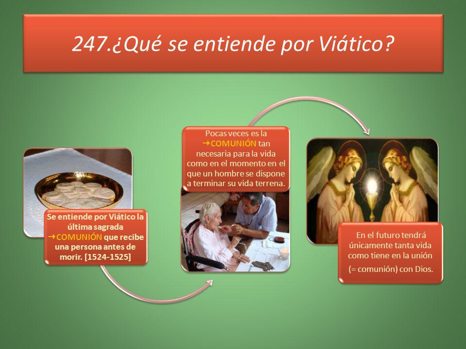 247.¿Qué se entiende por Viático