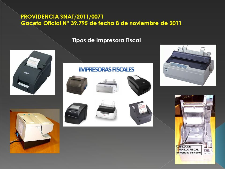 Tipos de Impresora Fiscal
