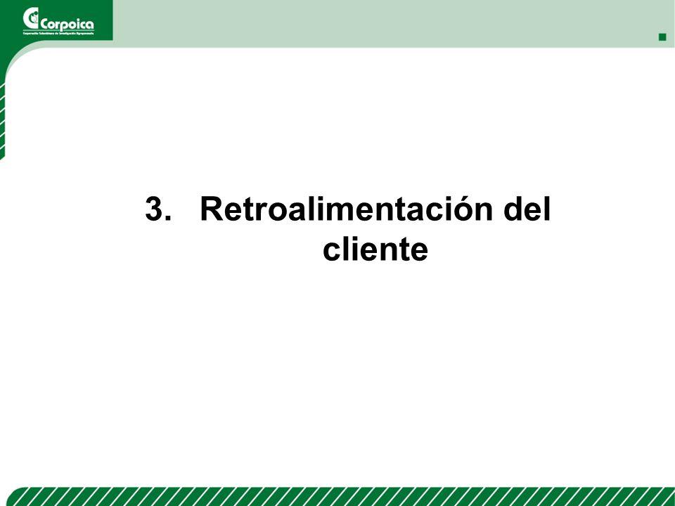 3. Retroalimentación del cliente
