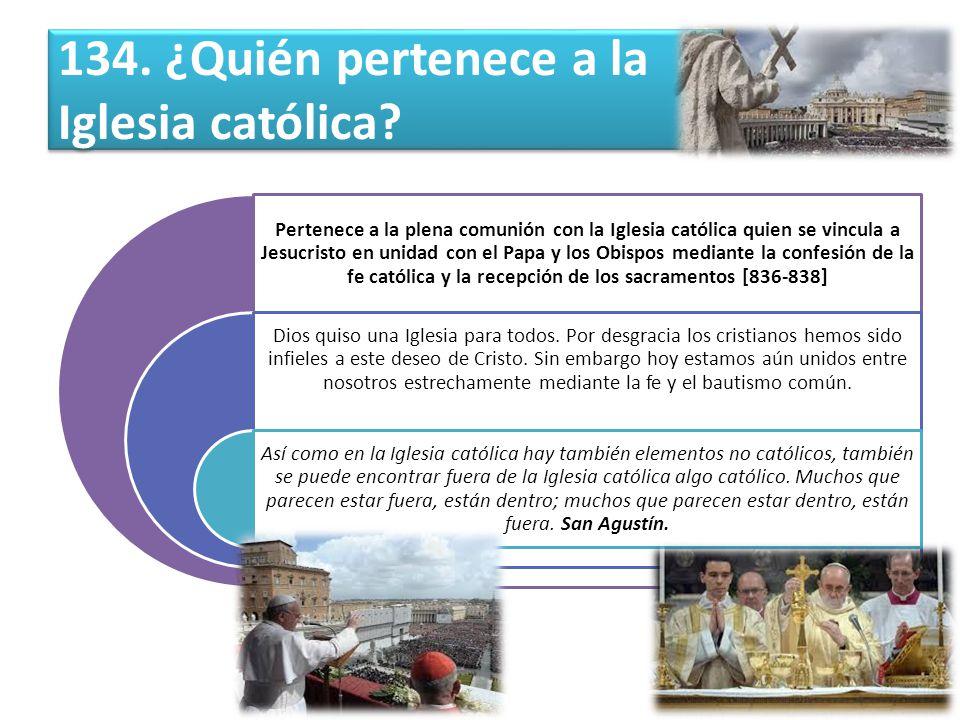 134. ¿Quién pertenece a la Iglesia católica