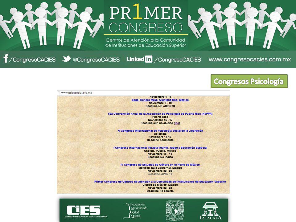 Congresos Psicología