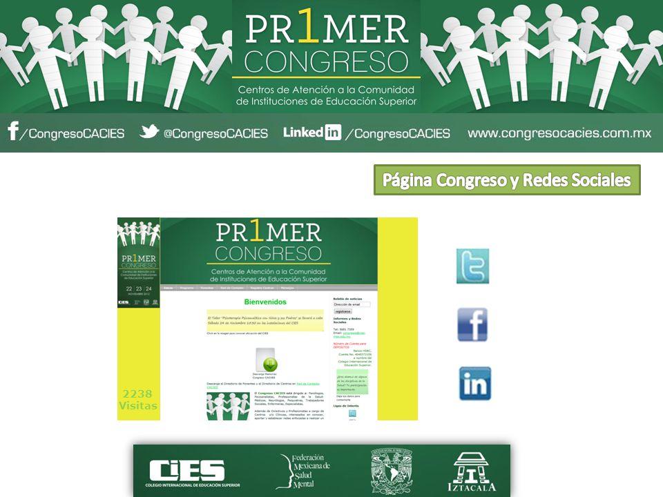 Página Congreso y Redes Sociales