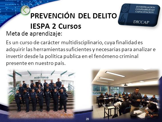 PREVENCIÓN DEL DELITO IESPA 2 Cursos