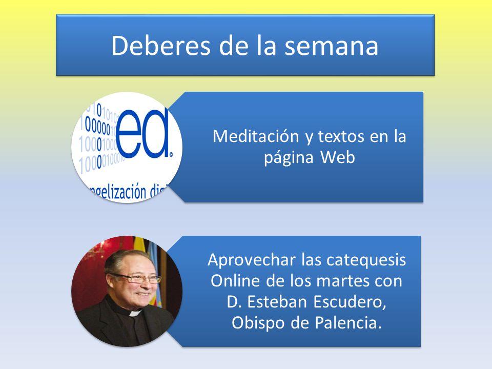 Meditación y textos en la página Web