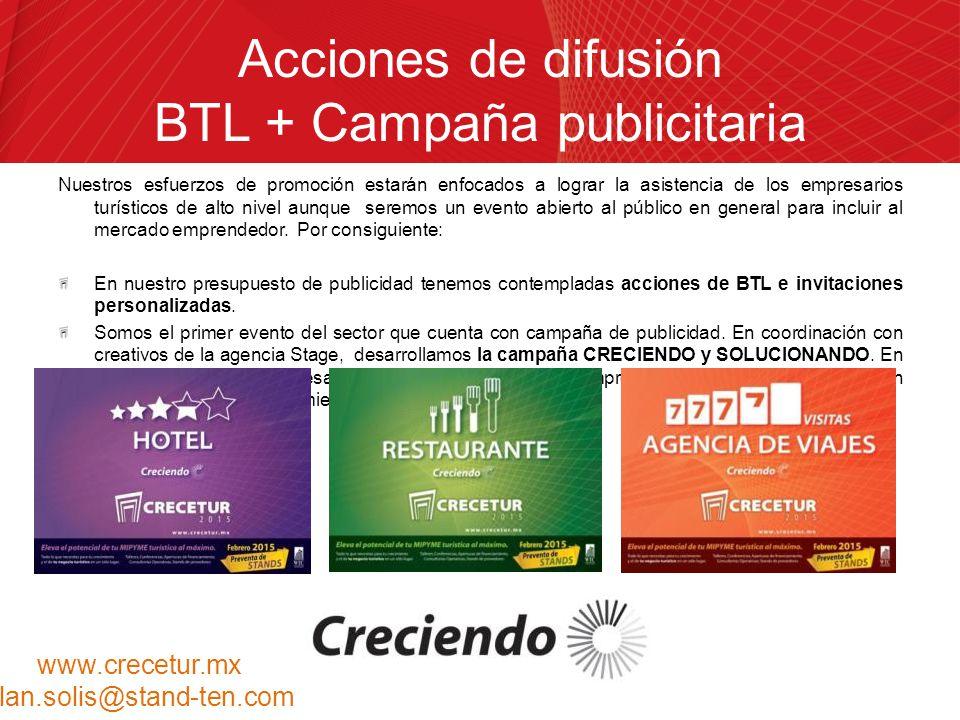 Acciones de difusión BTL + Campaña publicitaria