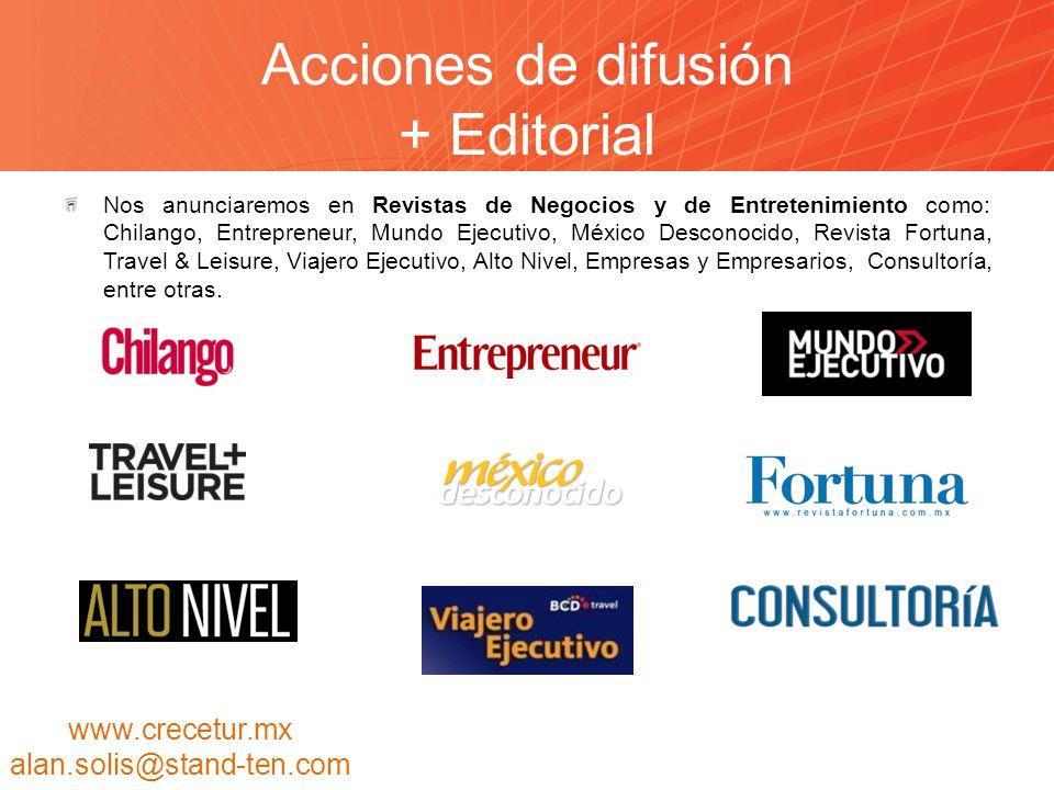 Acciones de difusión + Editorial