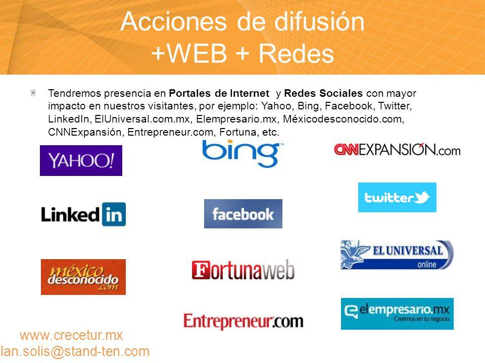 Acciones de difusión +WEB + Redes
