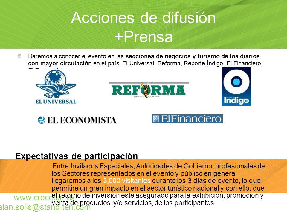 Acciones de difusión +Prensa