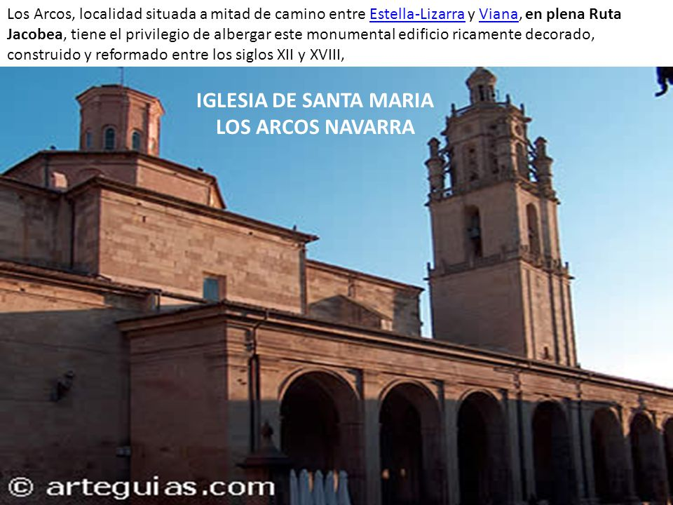 IGLESIA DE SANTA MARIA LOS ARCOS NAVARRA