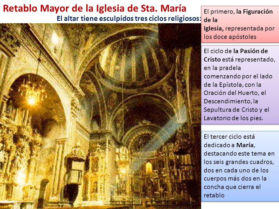 Retablo Mayor de la Iglesia de Sta. María