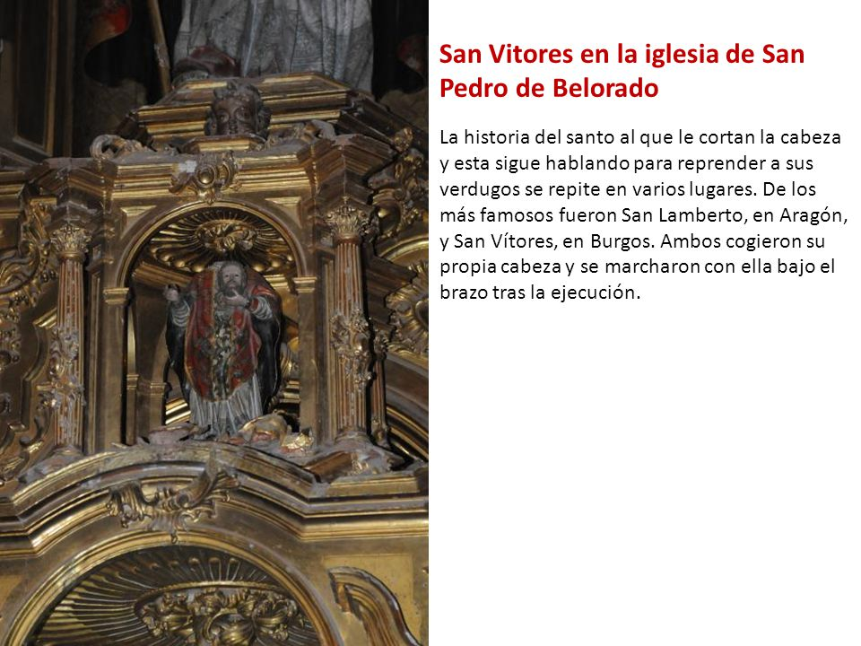 San Vitores en la iglesia de San Pedro de Belorado