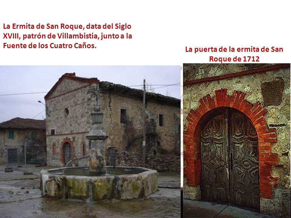 La puerta de la ermita de San Roque de 1712