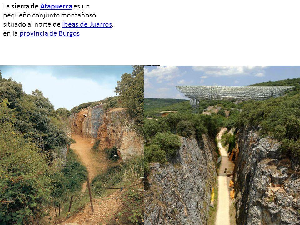 La sierra de Atapuerca es un pequeño conjunto montañoso situado al norte de Ibeas de Juarros, en la provincia de Burgos