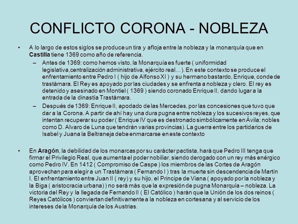 CONFLICTO CORONA - NOBLEZA