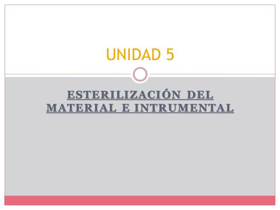ESTERILIZACIÓN DEL MATERIAL E INTRUMENTAL