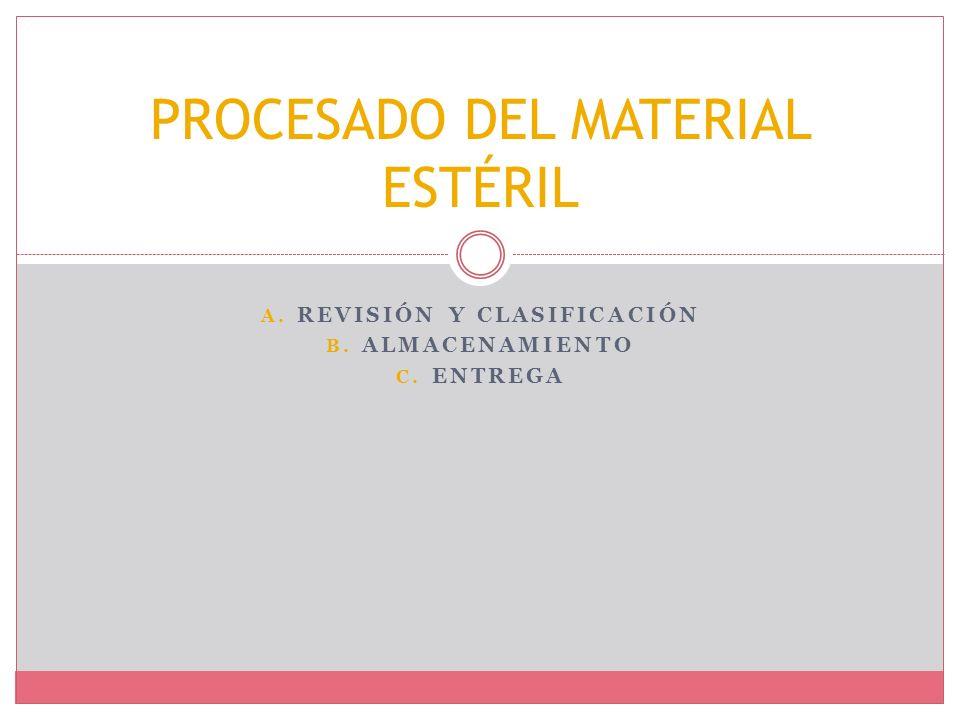 PROCESADO DEL MATERIAL ESTÉRIL