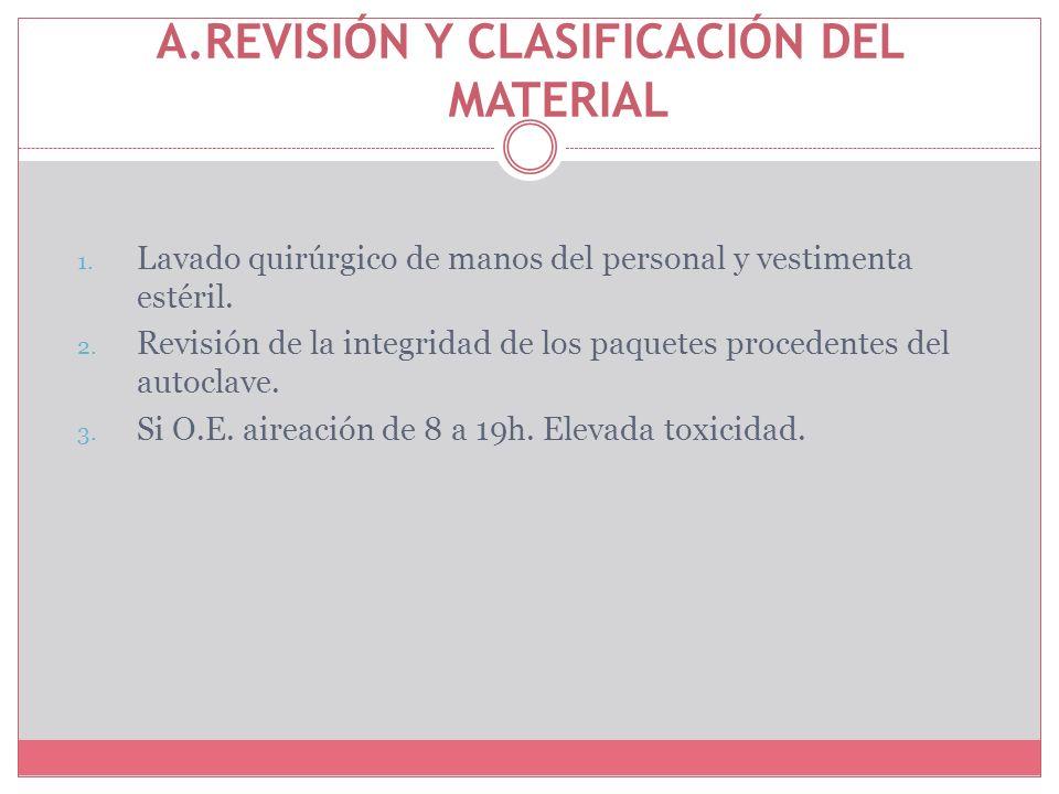 A.REVISIÓN Y CLASIFICACIÓN DEL MATERIAL