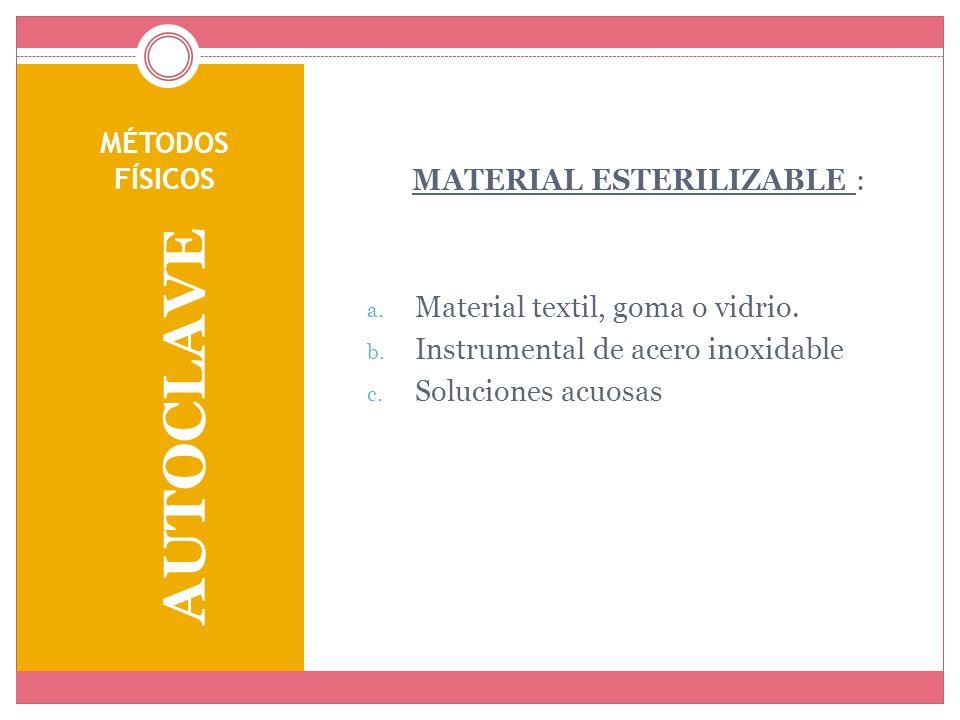 MATERIAL ESTERILIZABLE :