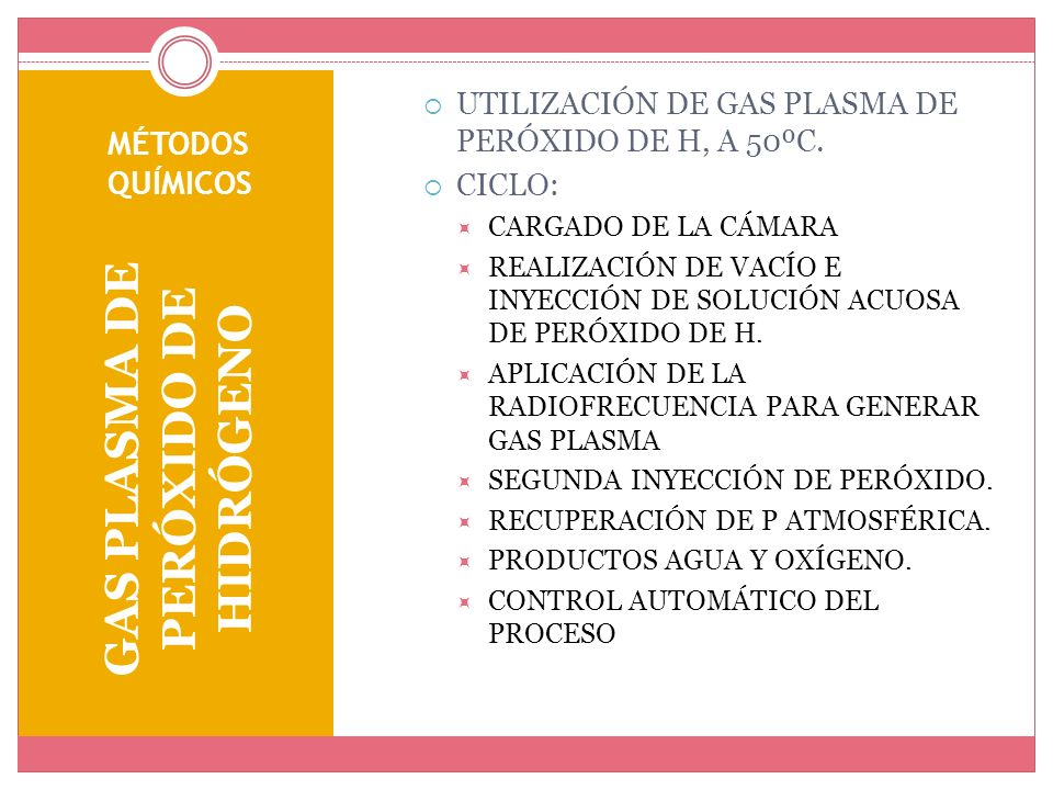 GAS PLASMA DE PERÓXIDO DE HIDRÓGENO