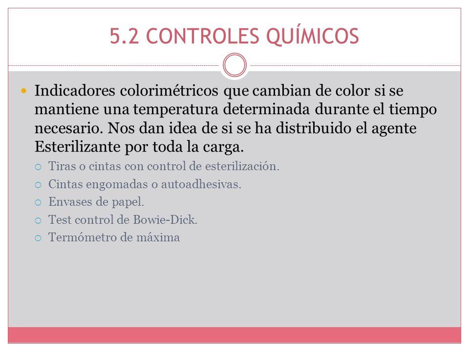 5.2 CONTROLES QUÍMICOS