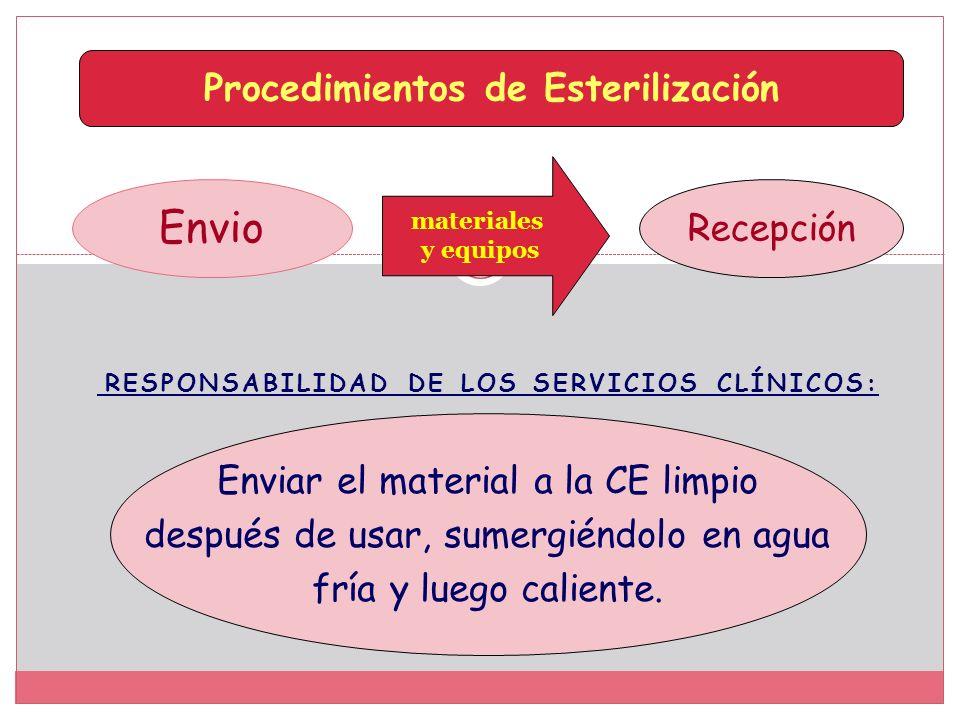 Responsabilidad de los servicios Clínicos: