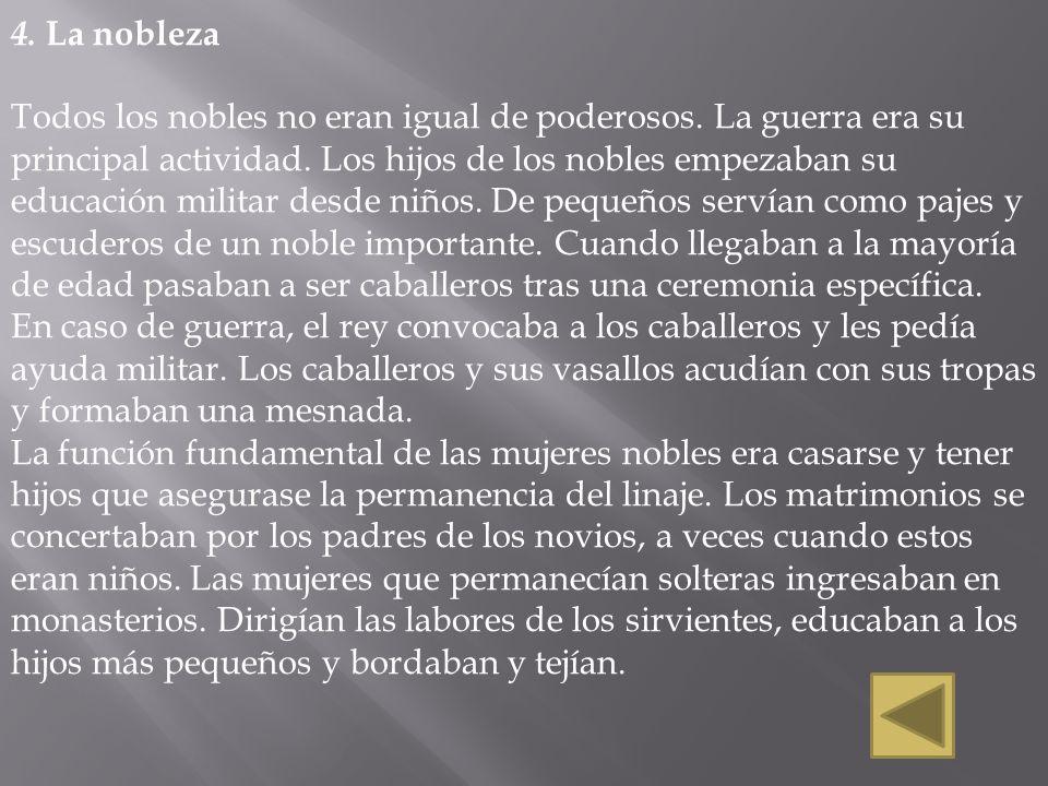 4. La nobleza