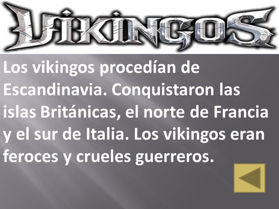 Los vikingos procedían de Escandinavia