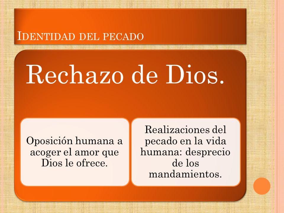 Oposición humana a acoger el amor que Dios le ofrece.