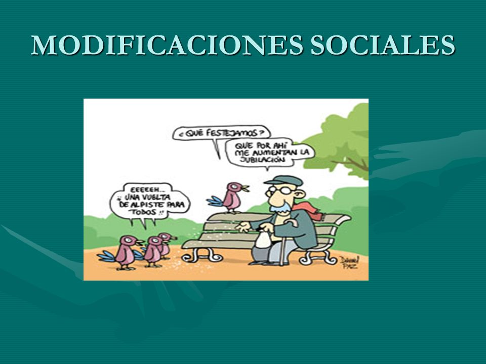 MODIFICACIONES SOCIALES