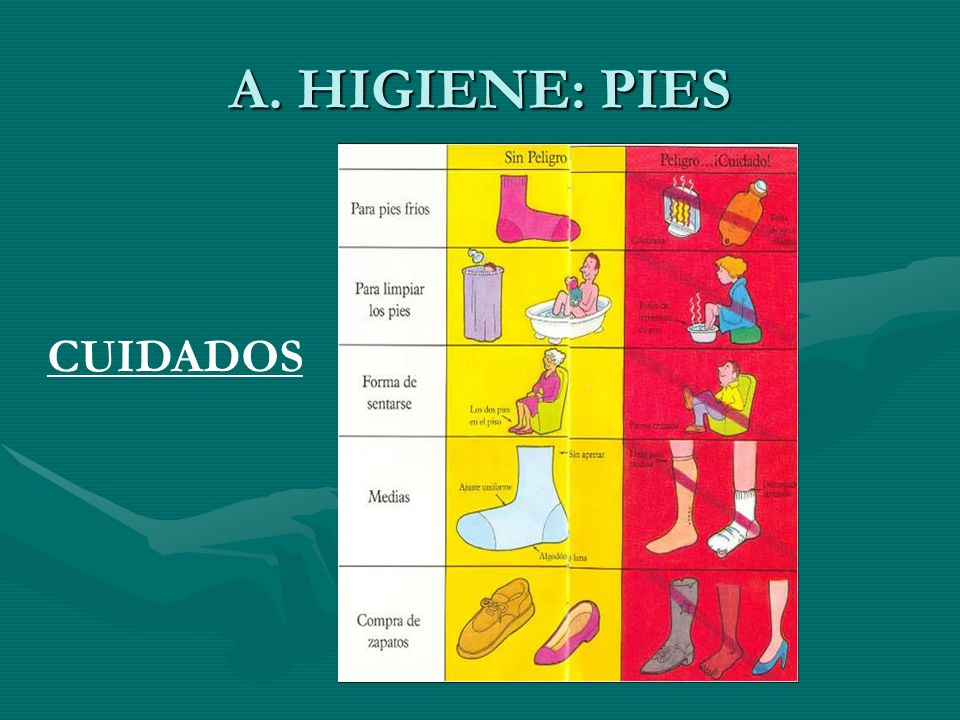 A. HIGIENE: PIES CUIDADOS