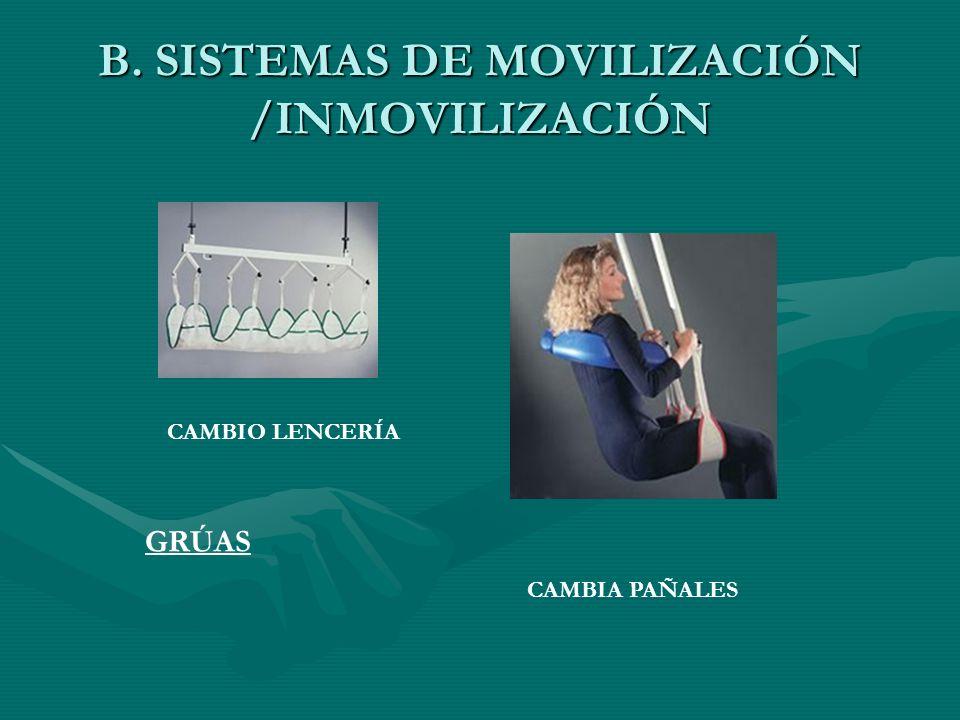 B. SISTEMAS DE MOVILIZACIÓN /INMOVILIZACIÓN