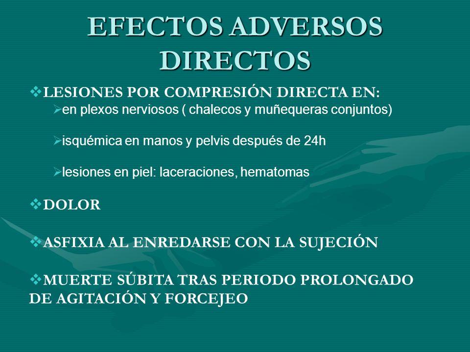 EFECTOS ADVERSOS DIRECTOS